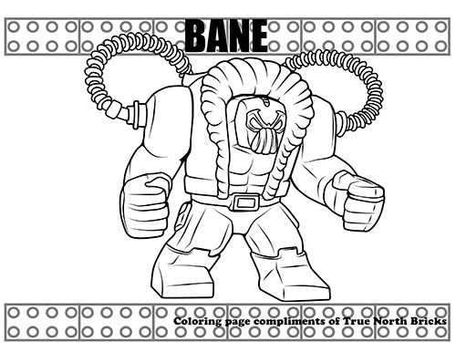 Coloring Page - Bane | Fun and games | Lego coloring pages ...
