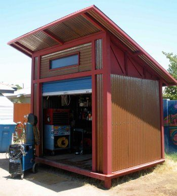 Diy 8x10 shipping container welding metal working pinterest sheds diy shed and welding - Shipping container end welding ...