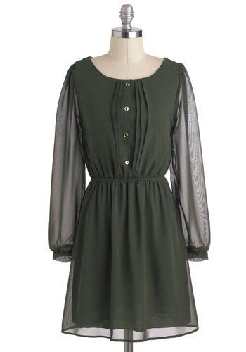 Olive Elegance Dress, #ModCloth