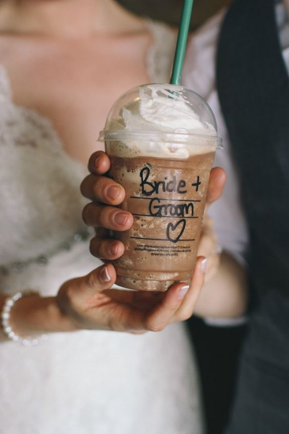 Wedding day Starbucks ;-)
