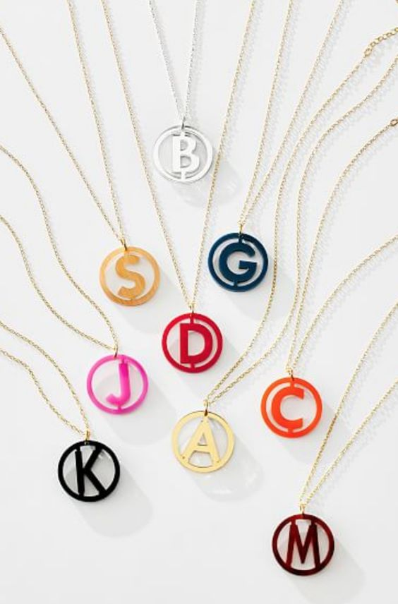 Pretty initial necklaces