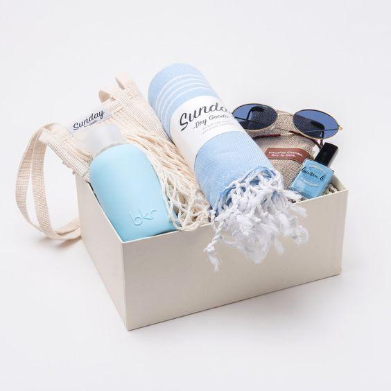 caja regalos sorpresa color azul