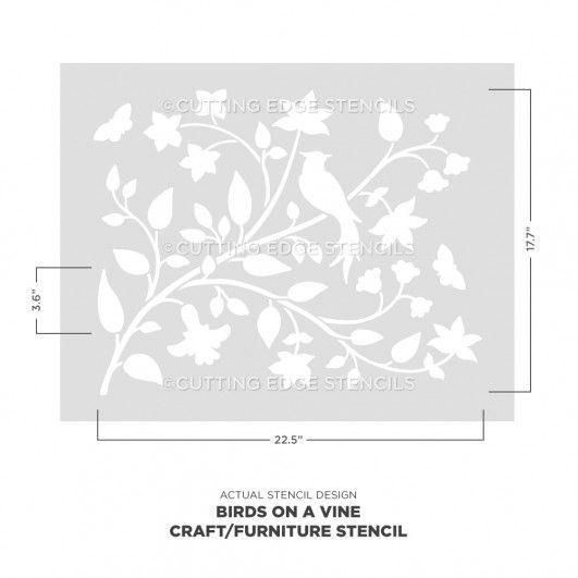 A5 10161XS The Stencil Studio Lavender Reusable Stencil Size Extra Small