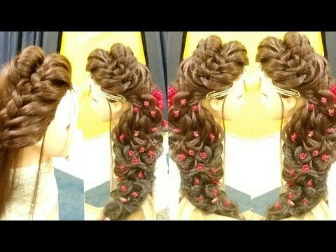 Puff Hairstyle Matha Patti With Puff Latest Bridal Open Hairstyle Latest Long Open Bridal Hairstyle Youtube Hair Styles Hair Puff Pakistani Bride Hairstyle