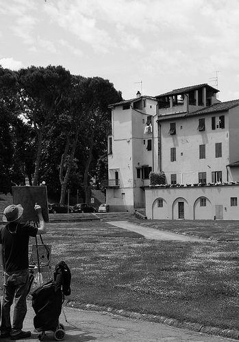 Artisti di strada a Lucca