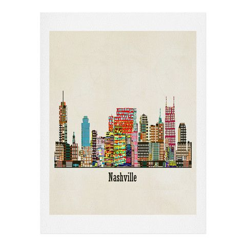 Brian Buckley nashville city skyline Art Print | DENY Designs Home Accessories