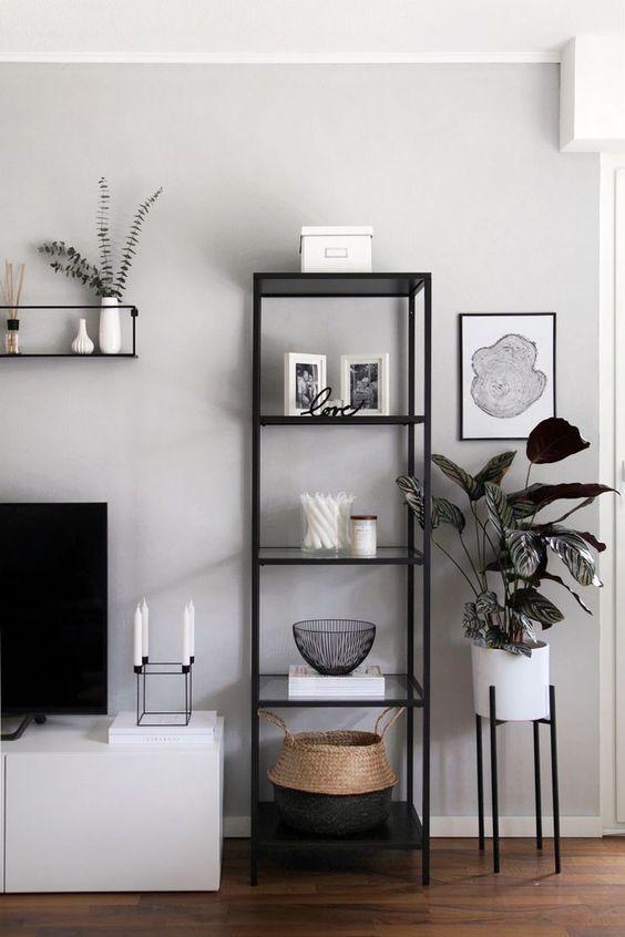 Shelf Decor Living Room Floating Shelf Decors Open Shelves Black And White Living Room Decor Small Apartment Decorating Living Room White Living Room Decor