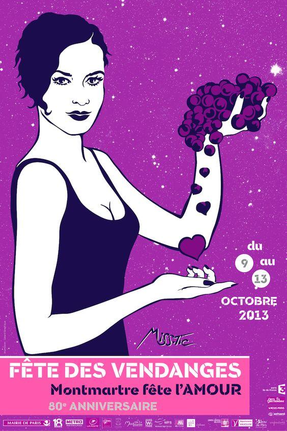 affiche fete des vendanges Montmartre 2013