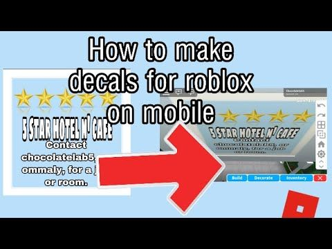 How To Make Your Own Clothes On Roblox Mobile How To Make Decals On Roblox Mobile Bloxburg Youtube In 2020 Roblox Roblox Pictures Custom Decals