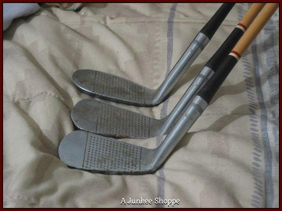 J C Higgins 3 Steel Shaft Golf Clubs 2 5 9 Irons Vintage IMG1742   http://ajunkeeshoppe.blogspot.com/
