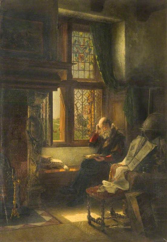 """The Philosopher,"" painted before 1902. Artist ""P. Manxman."" Aberdeen Art Gallery and Museum."