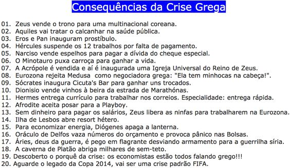 Consequências da Crise Grega ②⓪①⑤ ⓪⑥ ①⑦