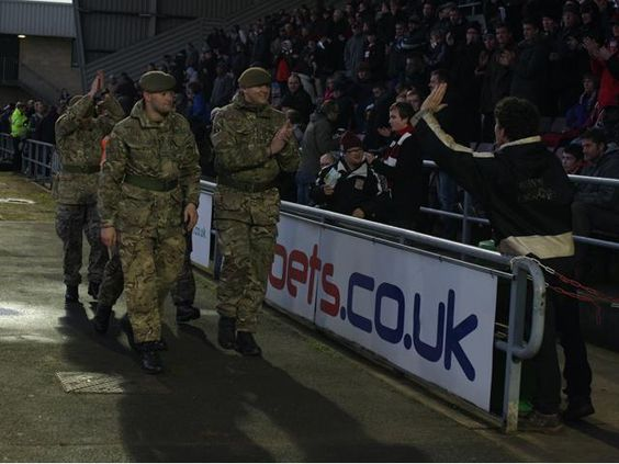 Delighted to welcome 2nd Battalion of the Royal Anglian Regiment to the game today #footballremembers #ProudToBe