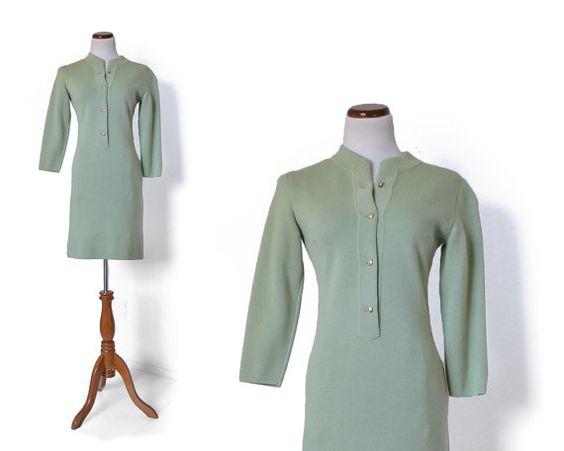 60s Sweater Dress / Italian Wool Dress / 1960s by MinxouriVintage, $88.00
