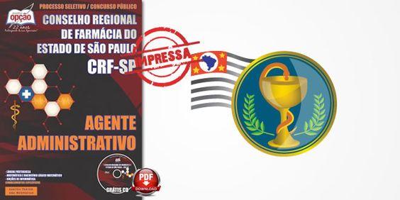 Promoção -  Apostila Concurso CRF SP Agente Administrativo  #Aprovado