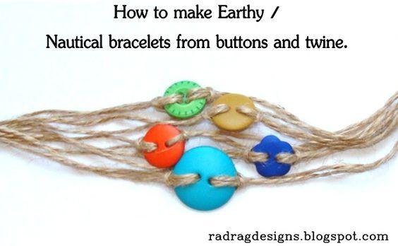 how to make jute jewellery