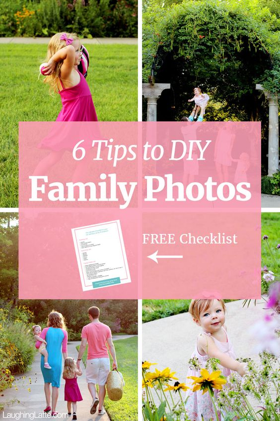 6 tips to take family photos yourself! These DIY family photo tips help you accomplish a professional looking gallery!