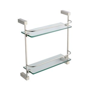 Fresca Ottimo 2 Tier Glass Shelf - Brushed Nickel