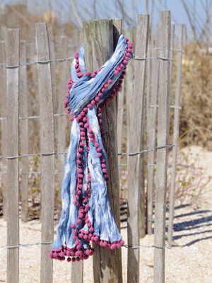 Natural Life pom pom scarf