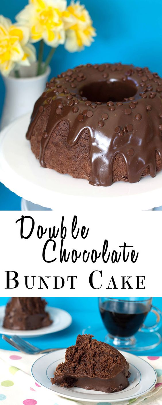 Double Chocolate Bundt Cake | Chocolate Bundt Cake, Bundt Cakes and ...