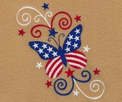 4th Butterfly and Swirls - 4x4 | What's New | Machine Embroidery Designs | SWAKembroidery.com Starbird Stock Designs