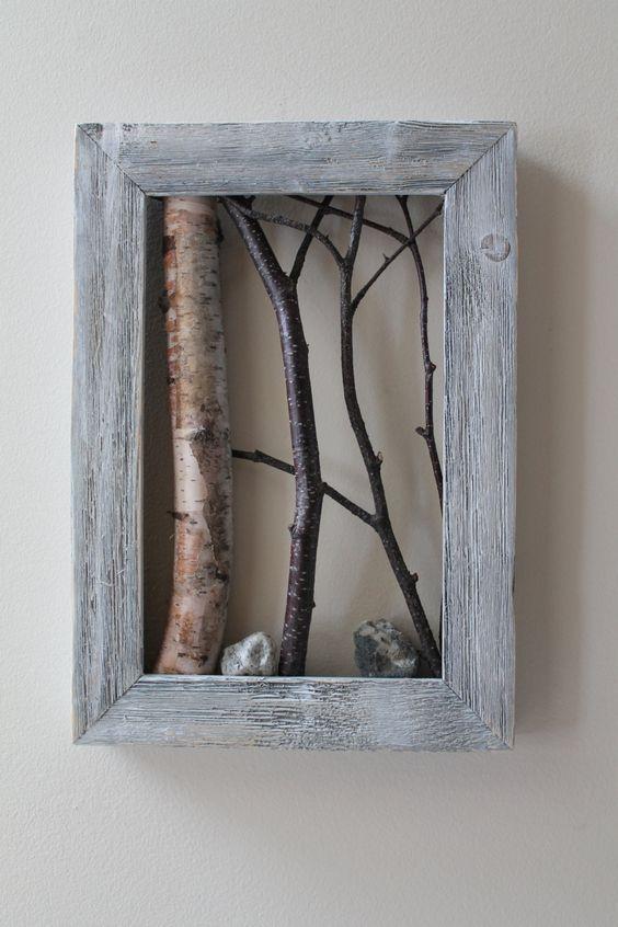 White Birch Bark Wall Hanging Framed Tree by WildWoodBarkArt - grimm küchen rastatt