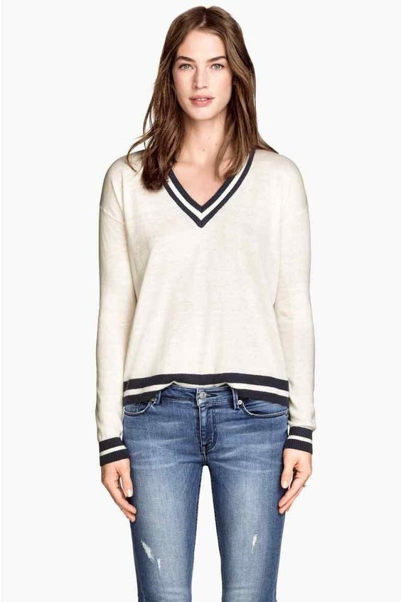 Camisola decote em V | H&M