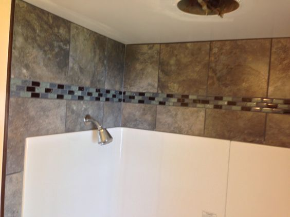 want to dress up that empty space above your shower or tub surround add some porcelain tile and. Black Bedroom Furniture Sets. Home Design Ideas