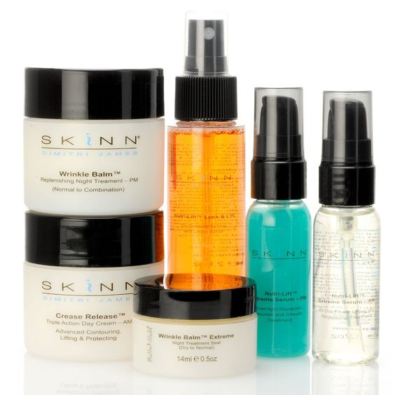 Skinn Cosmetics Six-Piece Ultimate Daily Defense Treatment Set.  I got this brand from Shop NBC believe it or not...but it is amazing!  It makes your skin look and feel like it did 15 years ago!