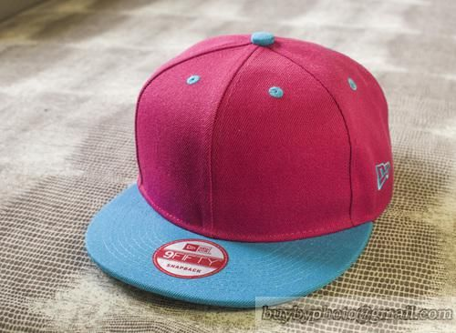 Blank Snapback Caps Hats Pink/Blue
