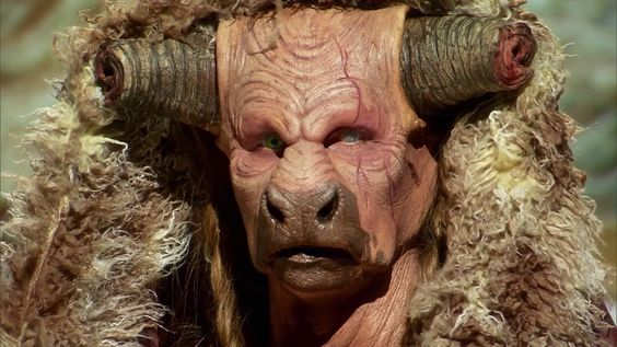 "S10E11 ""The Art of Warcraft"": Close up of Rob's senior shaman Tauren.The Art of Warcraft"": Despite so many of his pieces breaking, tearing, and generally refusing to cooperate, Rob lands in Top Looks! The Face Off judges loved Rob's sculpture & overall chocies."