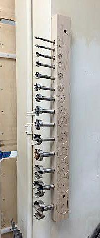 Forstner bit storage http://360woodworking.com/drill-bit-storage/