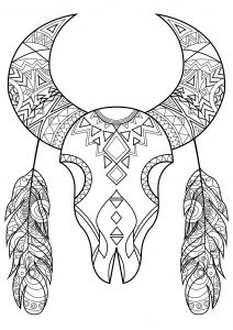 Native American Coloring Pages For Adults In 2020 Native American Symbols Skull Coloring Pages American Symbols