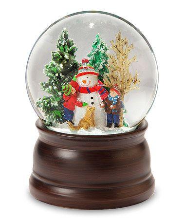 Snowman & Friends Snow Globe #zulily #zulilyfinds