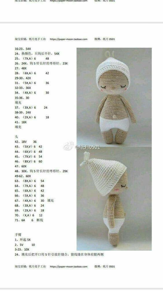 Pluszowe króliczki amigurumi darmowy wzór szydełkowy - Amigurumi Wzór | 1002x564