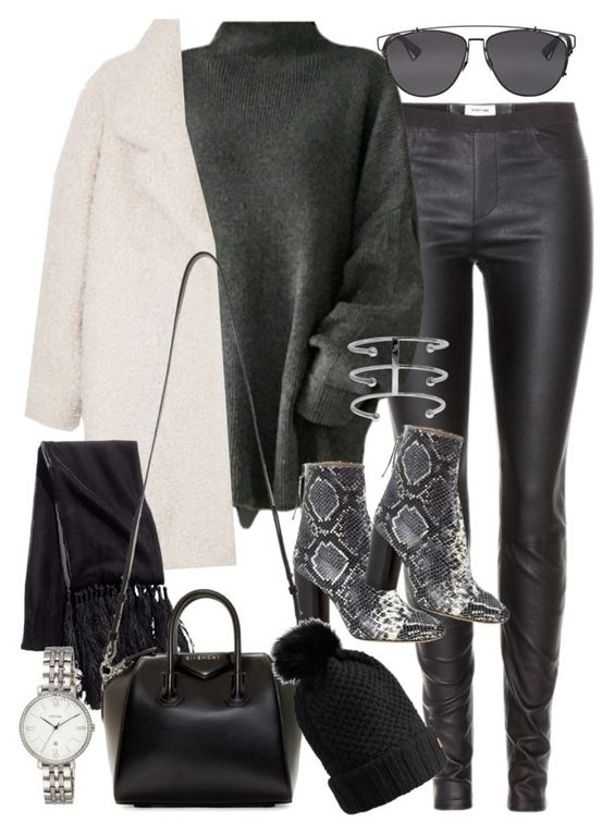 """""""Sans titre #2589"""" by christina95styles ❤ liked on Polyvore featuring Helmut Lang, Isabel Marant, Gérard Darel, H&M, Givenchy, Burberry, FOSSIL and Christian Dior"""