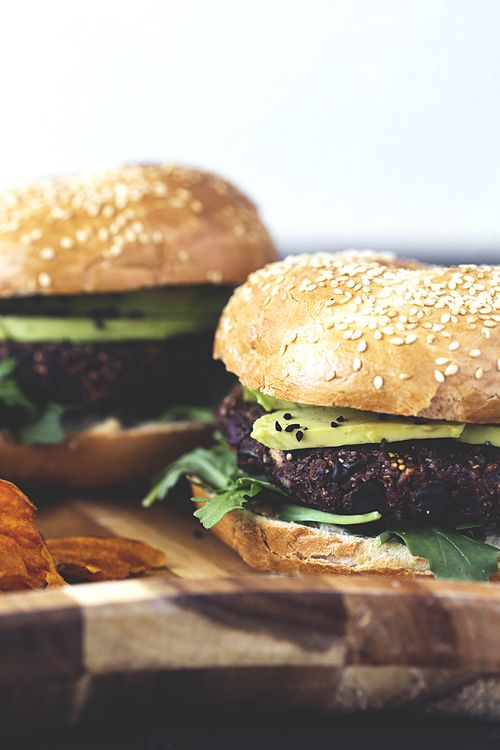 Vegan Black Bean, Mushroom, Dried Fig & Kalamata Olive Burger Recipe: