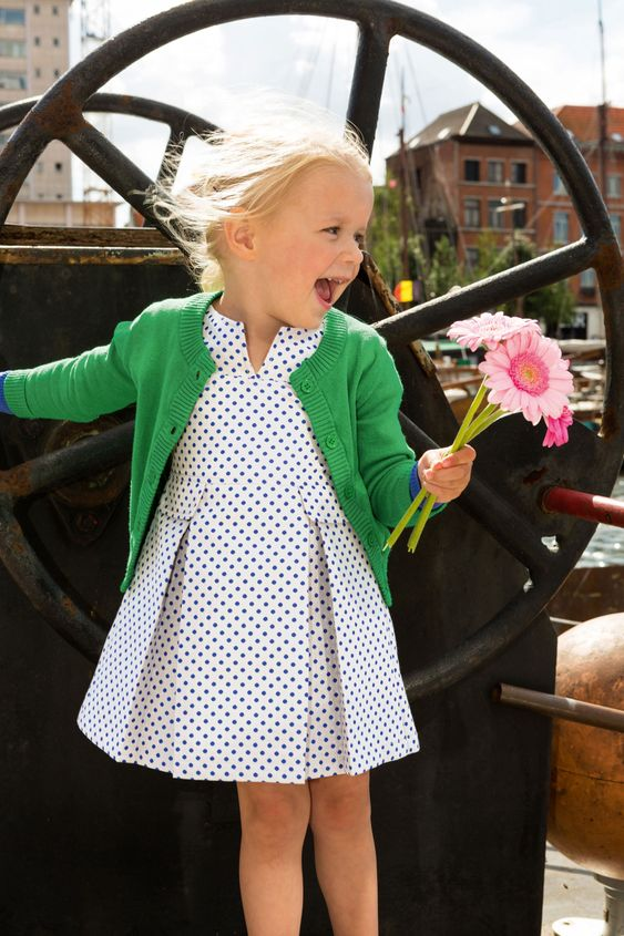 This little girl must have this big smile because she is wearing POLKA DOTS!!!
