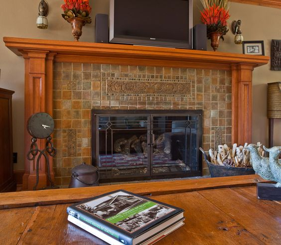 Three Brothers Bungalows: Historic Restoration - Craftsman Fireplace