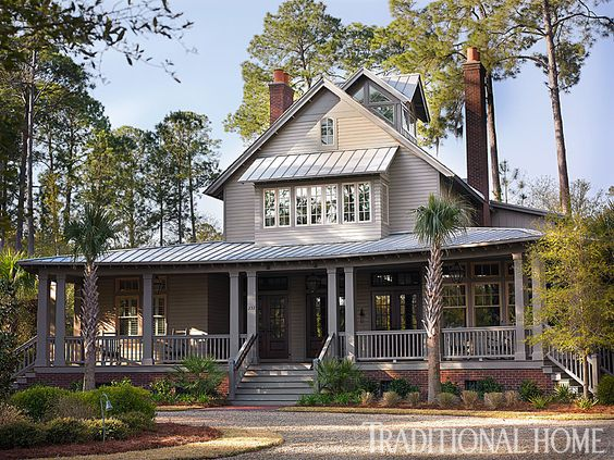 Breezy lowcountry home traditional home see the cupola for Low country homes
