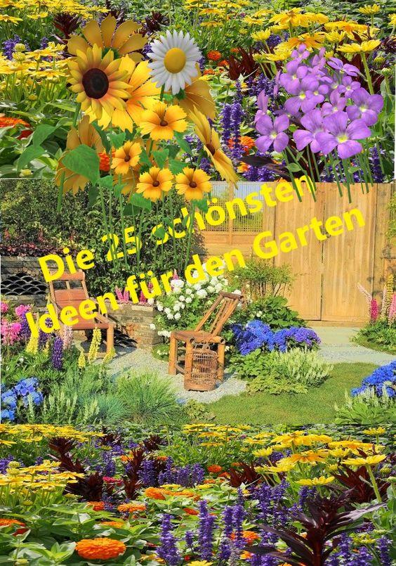 Im Sommer verlegen wir unser Wohnzimmer in den Garten. Die 25 schönsten Ideen für den Garten. Überall findet sich schöne Blumenbeete oder gemütliche Sitzecken um sich mit Familie und Freunden zu treffen...