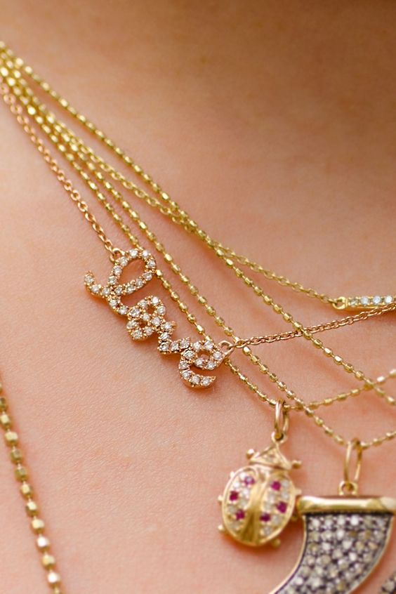 Sydney Evan Small Love Necklace cZG5eKIyU