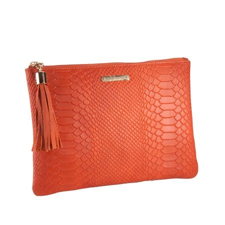 Orange The All in One Bag - Embossed Python