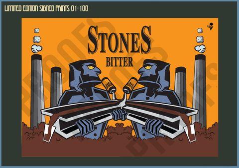Stones Bitter Men of Steel - Limited Edition Print - SALE 01 - 100 – Goo Design