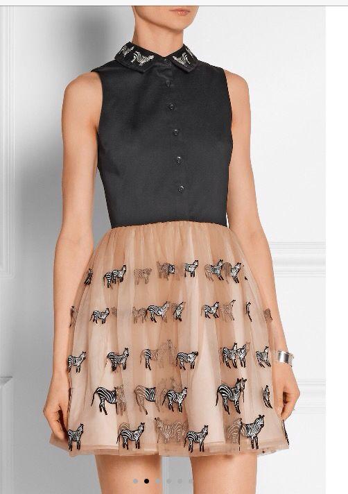 Alice and Olivia zebra dress