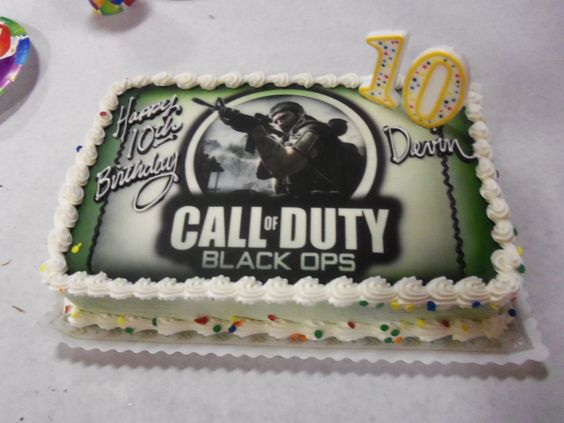Call of Duty Black Ops Birthday Cake,