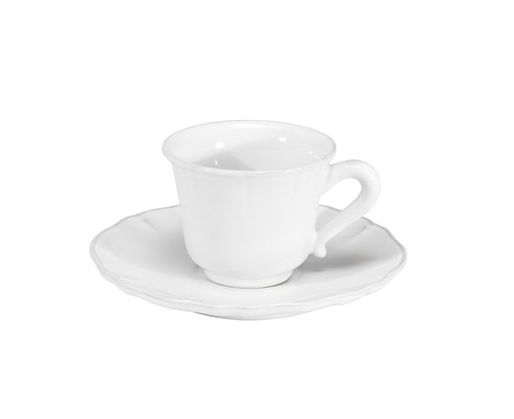COSTA NOVA Alentejo collection. Coffee cup & saucer. White.  https://pt.pinterest.com/costanovatable/alentejo-collection/