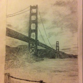 Golden gate bridge drawn by my hubby!