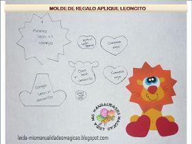 MOLDES DE E.V.A: Moldes de leão e Joaninha.