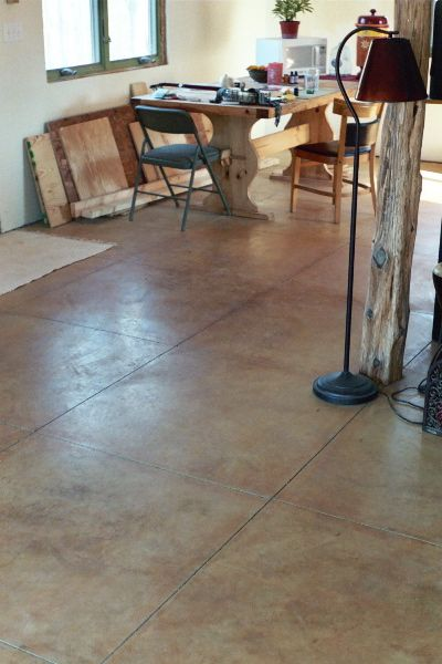 How To Stain Concrete With Iron Sulphate